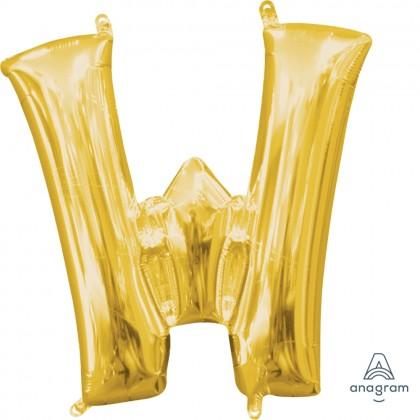 "L16 16"" (GOLD) Mini Foil Letter W"