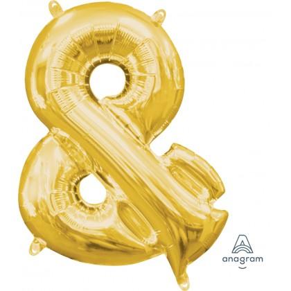 "L16 16"" (GOLD) Mini Foil Symbol &"