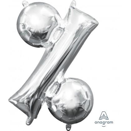 """L16 16"""" (SILVER) Mini Foil Symbol %"""
