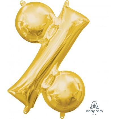 "L16 16"" (GOLD) Mini Foil Symbol %"