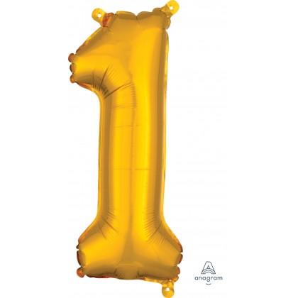 "L16 16"" (GOLD) Mini Foil Number 1"