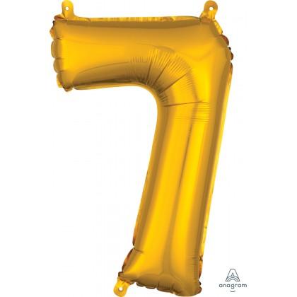 "L16 16"" (GOLD) Mini Foil Number 7"