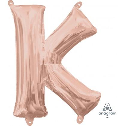 """L16 16"""" (ROSE GOLD) Letter K"""
