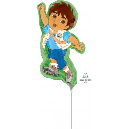 """A30 14"""" Mini-Shape Go Diego Go Foil Balloon"""