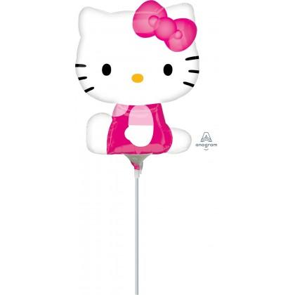 """A30 14"""" Hello KItty Shape (Side Pose) Mini Shape Foil Balloon"""