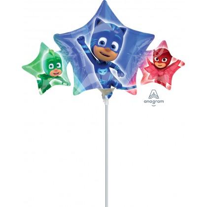 """A30 14"""" Mini-Shape PJ Masks Mini Shape Foil Balloon"""