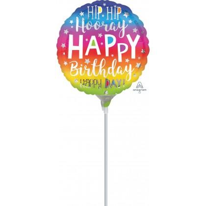 "A15 9"" Hip Hop Hooray Birthday Mini Shape"