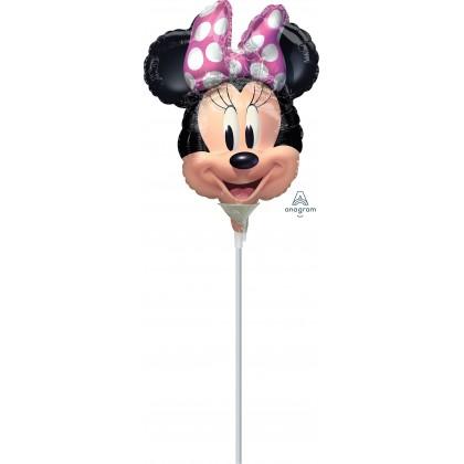 "A30 9"" Minnie Mouse Forever Mini Shape Foil Balloon"