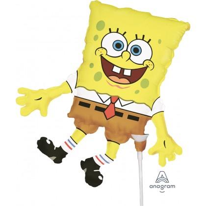 "A30 14"" Mini-Shape Spongebob Foil Balloon"