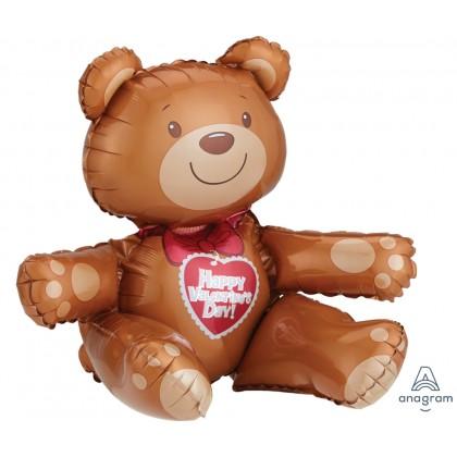 "A75 17"" Valentine Sitting Bear Multi-Balloon"