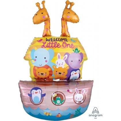 """P60 43"""" Baby Shower Noah's Ark Multi-Balloon"""