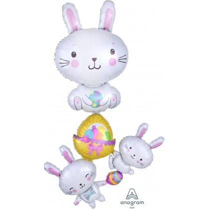 """P70 61"""" Bunny Stacker Multi-Balloon"""