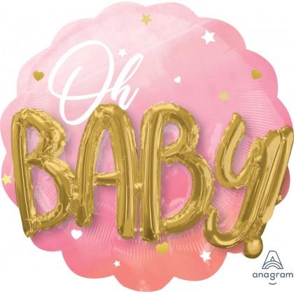 "P75 28"" Pink Baby Girl Multi-Balloon"