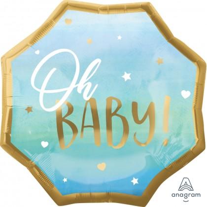 """P32 22"""" Blue Baby Boy Jumbo HX® Foil Balloon"""