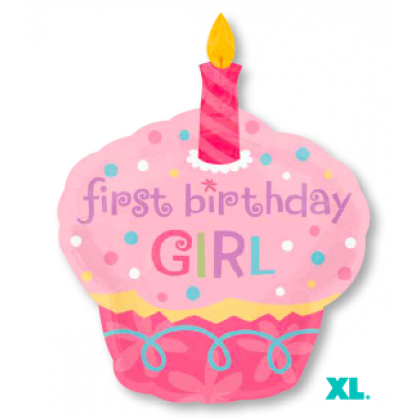"P35 36"" Sweet Little Cupcake Girl SuperShape™ XL®"