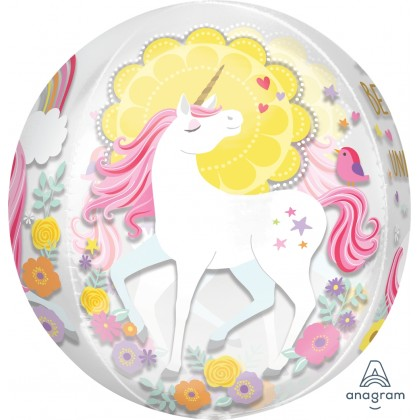 """G20 15"""" Magical Unicorn Orbz™ XL™ Clear"""