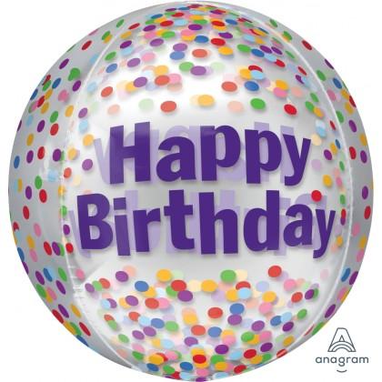 """G20 15"""" Happy Birthday Funfetti Orbz™ XL™"""