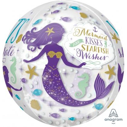 """G20 15"""" Mermaid Wishes Orbz™ XL™ Clear"""