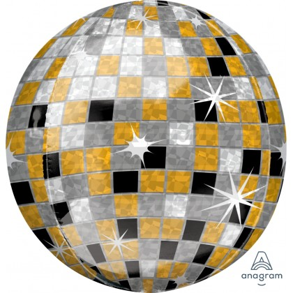 "G20 15"" Gold, Silver, Black Disco Ball Orbz® XL™"
