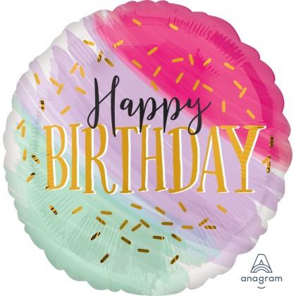 """P32 28"""" Water Color Birthday Jumbo HX®"""