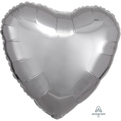 "S15 17"" Metallic Silver Standard Heart HX®"