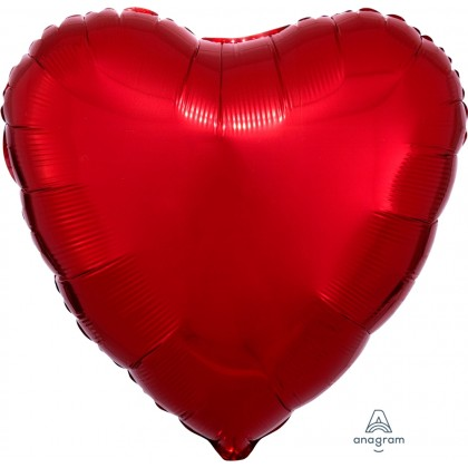 "S15 17"" Metallic Red Standard Heart XL®"