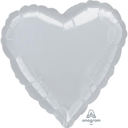 """P20 32"""" Metallic Silver Jumbo Heart"""