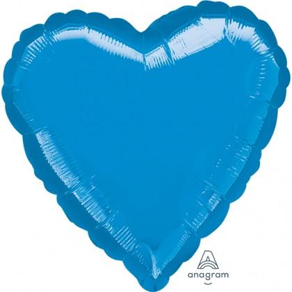 """P20 32"""" Metallic Blue Jumbo Heart"""