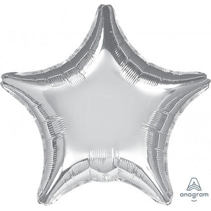 "P20 32"" Metallic Silver Jumbo Star"
