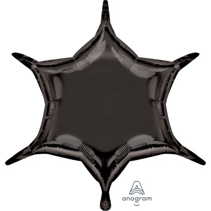 "S55 22"" Black 6-Point Star"