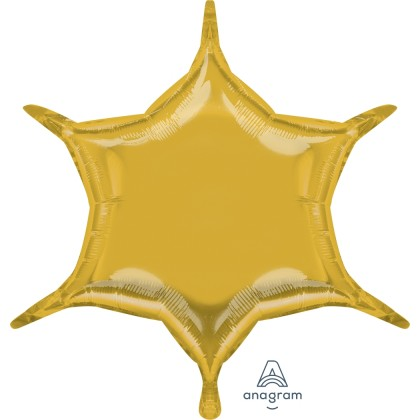 "S55 22"" Gold 6-Point Star"