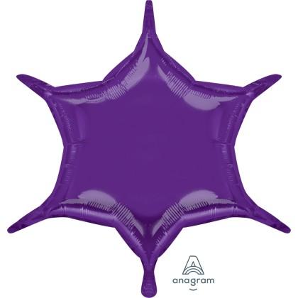 """S55 22"""" Purple 6-Point Star"""