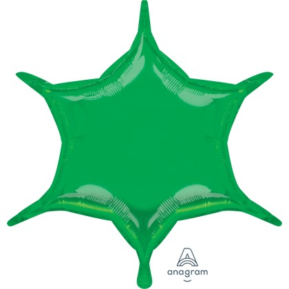 """S55 22"""" Green 6-Point Star"""