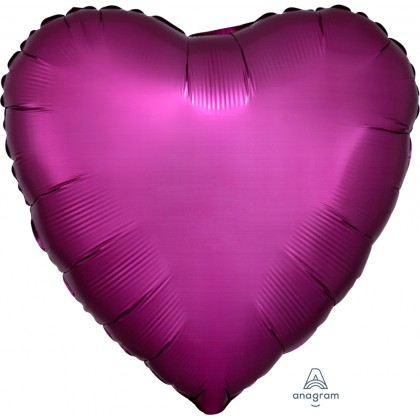 "S15 17"" Satin Luxe™ Promegranate Standard Heart HX®"