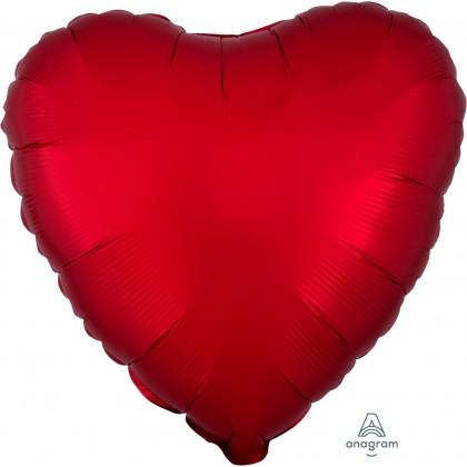 """S15 17"""" Satin Luxe™ Sangria Standard Heart ®"""