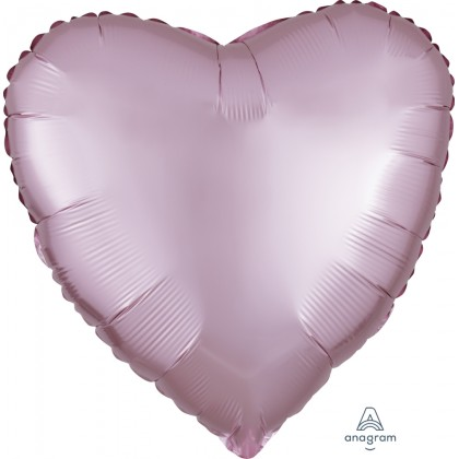 "S15 17"" Satin Luxe™ Pastel Pink Standard Heart HX®"