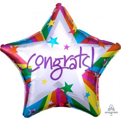 "S40 19"" Rainbow Congrats Standard Star XL®"