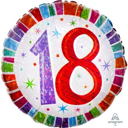 "S55 17"" Radiant Birthday 18 Standard Holographic"