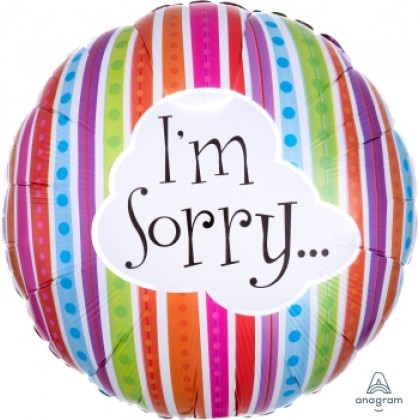 "S40 17"" I'm Sorry Colorful Lines Standard XL®"