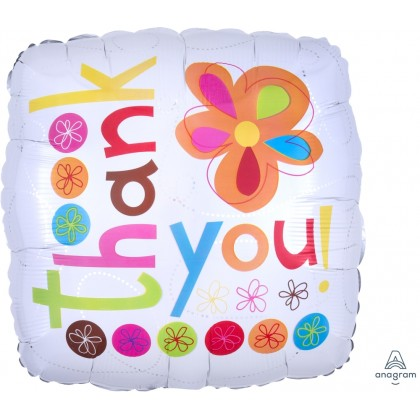 """S40 17"""" Thank You Colorful Flowers Standard XL®"""