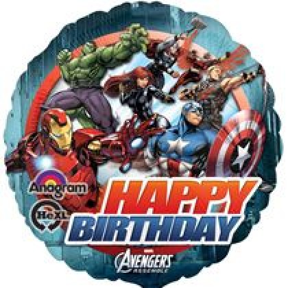 "S60 17"" Avengers™ Animated Birthday Standard HX®"