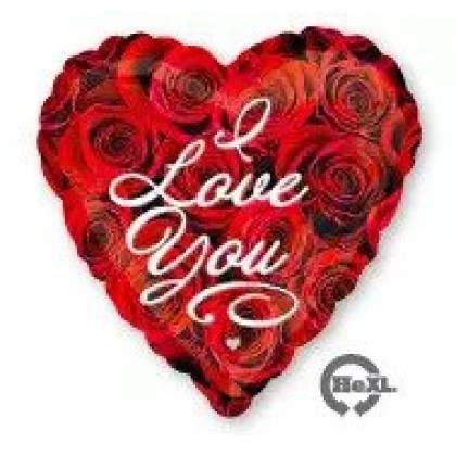 "S40 17"" Love You Roses Standard HX®"