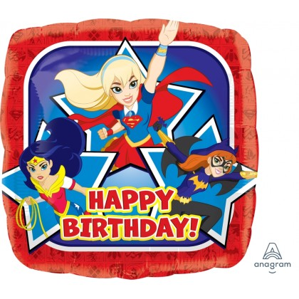 "S60 17"" DC Super Hero Girls Happy Birthday Standard HX®"