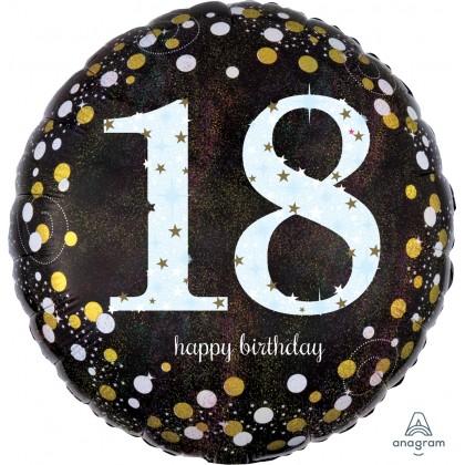 "S55 17"" Sparkling Birthday 18 Standard Holographic"