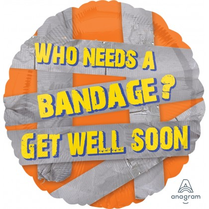 """S40 17"""" Duct Tape Get Well Standard HX®"""