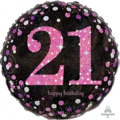 "S55 17"" Pink Celebration 21 Standard Holographic"