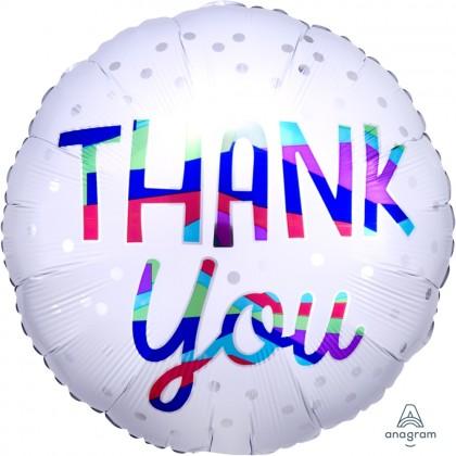 "S40 17"" Thank You Silver Dots Standard HX®"