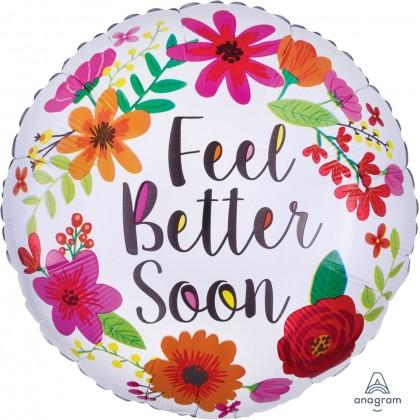 """S40 17"""" Feel Better Soon Floral Wreath Standard HX®"""