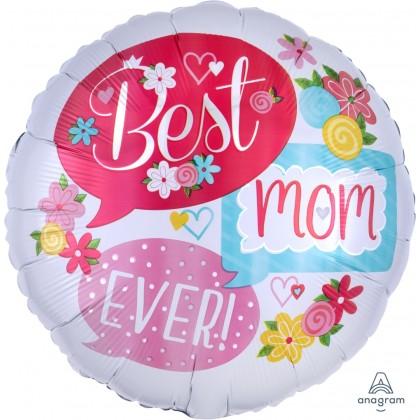 "S40 17"" Best Mom Ever Bubbles Standard HX®"