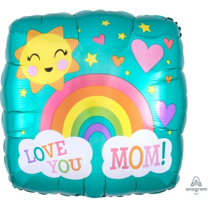 "S40 17"" Love You Mom Rainbow Standard HX®"